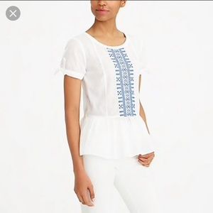 J.crew factory Embroidered tie-sleeve T-shirt 6